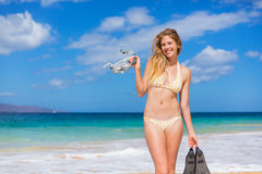Beautiful Woman with Snorkel Gear Royalty Free Stock Images