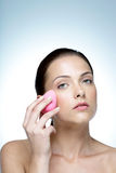 Beautiful woman with soap Stock Image