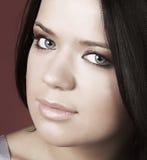 Beautiful  woman  with soft make-up Stock Image