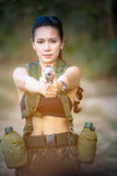 Beautiful woman soldier Royalty Free Stock Photos
