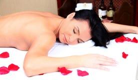 Beautiful woman in spa. On white Stock Photo