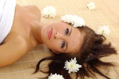 Beautiful woman after spa Stock Photo