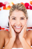 Beautiful woman at the spa Stock Images