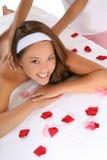 Beautiful Woman in Spa Stock Photo