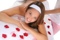 Beautiful Woman in Spa Royalty Free Stock Photography