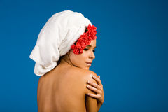 Beautiful woman in spa Stock Photo