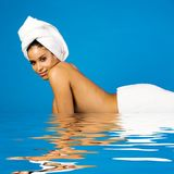 Beautiful woman in spa Royalty Free Stock Photos