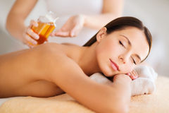 Beautiful woman in spa Royalty Free Stock Photo