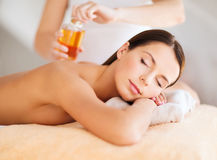 Beautiful woman in spa Royalty Free Stock Images