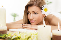 Beautiful Woman In The Spa Centre Royalty Free Stock Photos