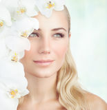 Beautiful woman at spa Royalty Free Stock Image
