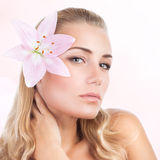 Beautiful woman at spa Stock Images