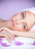Beautiful woman at spa Stock Photography