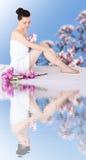 Beautiful woman in spa Stock Photos