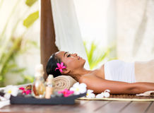 Beautiful woman in spa environment Stock Image