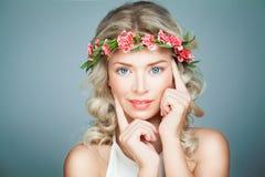 Beautiful Woman Spa Model met Gezonde Huid Royalty-vrije Stock Foto