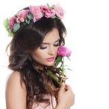 Beautiful Woman Spa Model met Gezonde Verse Huid Stock Fotografie