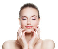 Free Beautiful Woman Spa Model With Nude Makeup Stock Photos - 86222833