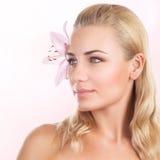 Beautiful woman at spa Royalty Free Stock Image