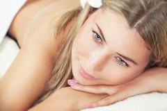 Beautiful woman at spa Royalty Free Stock Photography