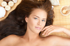 Beautiful woman at a spa salon Royalty Free Stock Photos