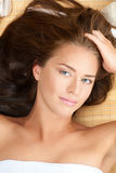 Beautiful woman at a spa salon Stock Image