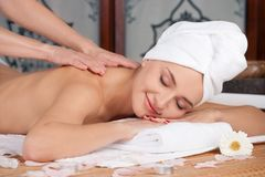 Beautiful woman in spa salon Stock Photography
