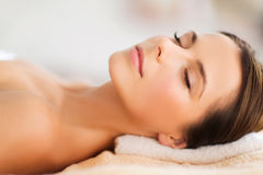 Beautiful woman in spa salon Royalty Free Stock Photo