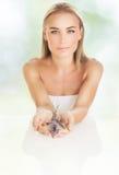 Beautiful woman at spa salon Stock Photos