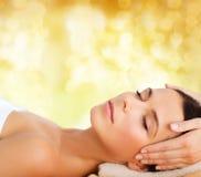 Beautiful woman in spa salon having facial Royalty Free Stock Photography