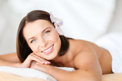 Beautiful woman in spa salon Stock Photos