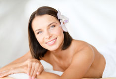 Beautiful woman in spa salon Royalty Free Stock Photos