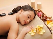Beautiful woman in spa salon Royalty Free Stock Photo