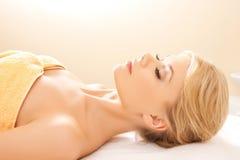 Beautiful woman in spa salon Royalty Free Stock Photos