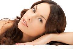 Beautiful woman in spa salon Stock Photography