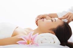 Beautiful woman in spa salon Stock Photos