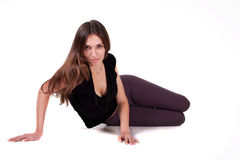 Beautiful woman in sports clothing for the dance Stock Photos