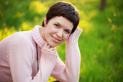Beautiful woman in spring Royalty Free Stock Images