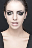 Beautiful woman with stage make up. Royalty Free Stock Photography