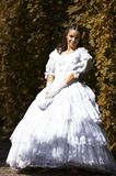 Beautiful woman is standing. A young female dressed like the austrian Empress Elisabeth in fine monarchy syle Stock Photos