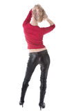 Beautiful woman standing back Stock Images