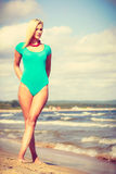Beautiful woman standing with costume. Royalty Free Stock Images