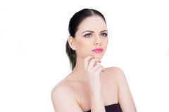 Beautiful woman standing daydreaming Royalty Free Stock Photos