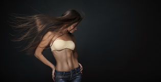 Beautiful Woman with Straight Long Hair Royalty Free Stock Photo