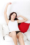 Beautiful woman stretching her body. Stock Photography