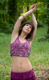 Beautiful Woman Stretching Outside Royalty Free Stock Photos