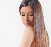 Beautiful woman with strong healthy bright hair Stock Photography