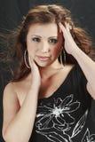 Beautiful Woman in studio stock image