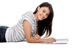 Beautiful woman studying Royalty Free Stock Photo