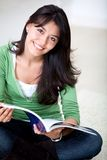 Beautiful woman studying Royalty Free Stock Image